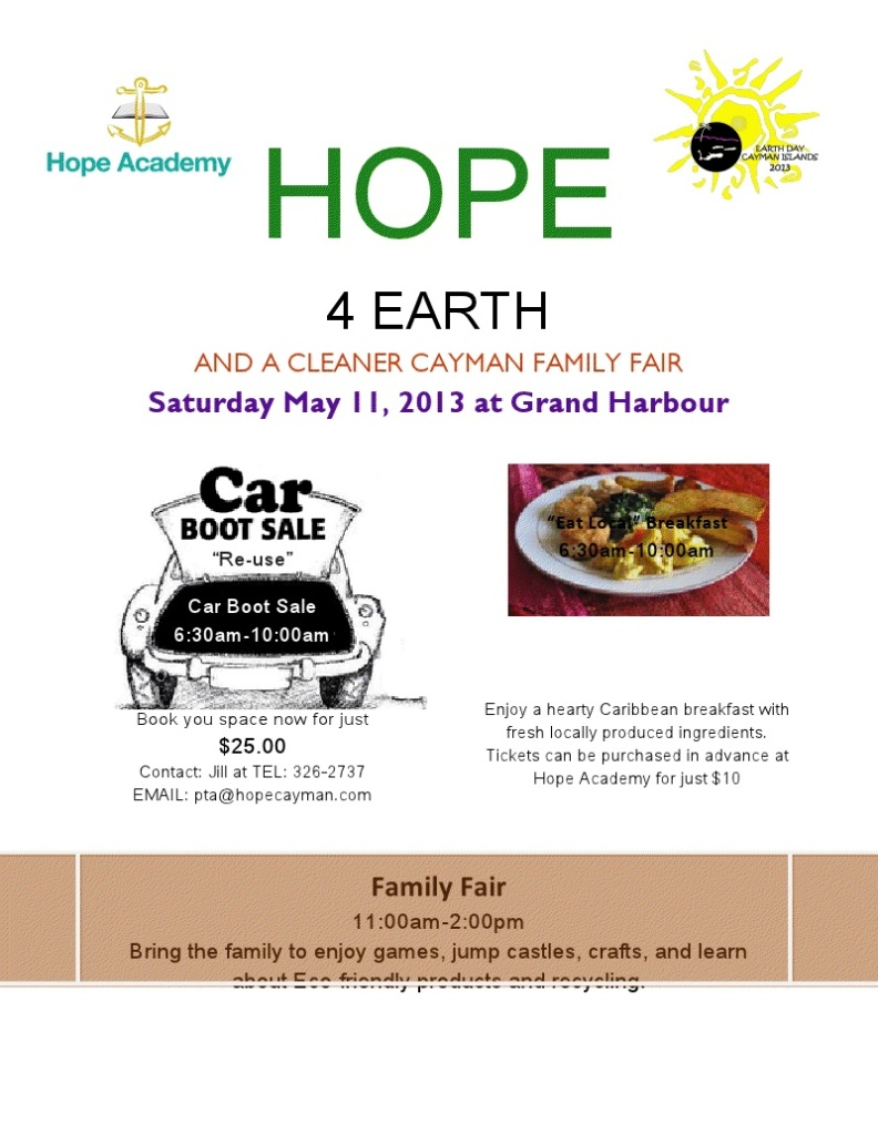 Hope 4 Earth 2013 Flyer