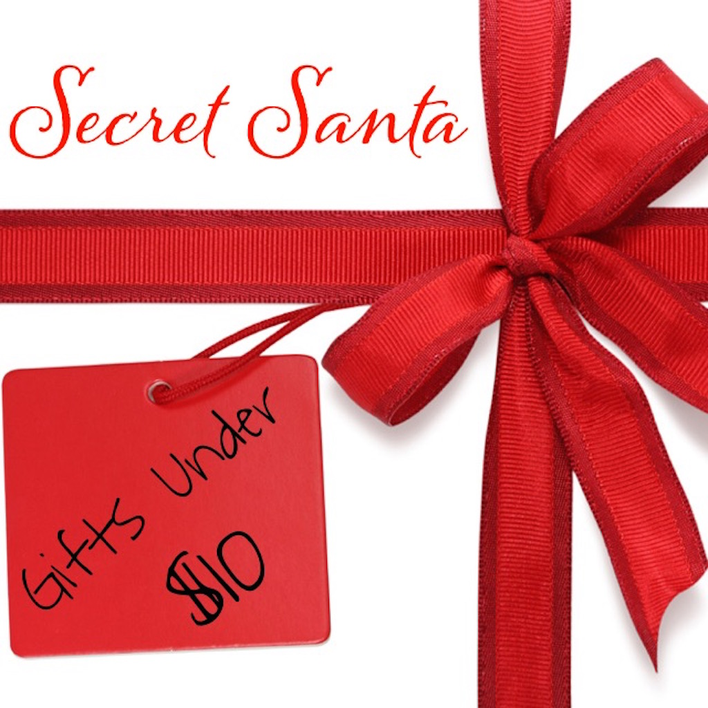 ol Secret Santa gift. Here's a list of cool gift ideas that all come in under $10 bucks! Whether the gifts are for your office Secret Santa or as little stocking stuffers, here are a bunch of great ideas sure to delight but not break the bank!